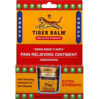 Tiger Balm Pain Relieving Ointment, Red Extra Strength
