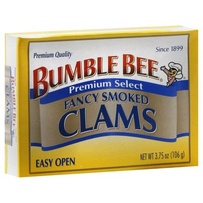 Bumble Bee Clams, Premium Select, Fancy Smoked