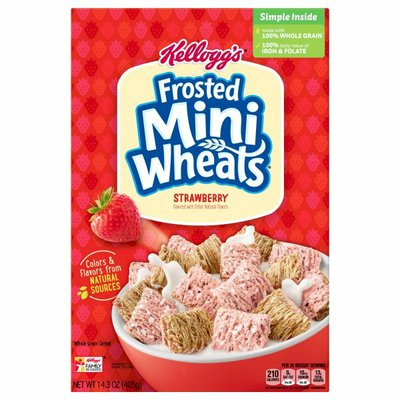 Kellogg's Frosted Mini-Wheats Breakfast Cereal, High Fiber Cereal, Strawberry