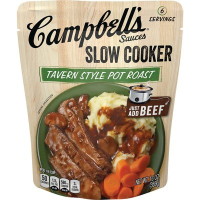 Campbell's® Slow Cooker Sauces Tavern Style Pot Roast Slow Cooker Sauce