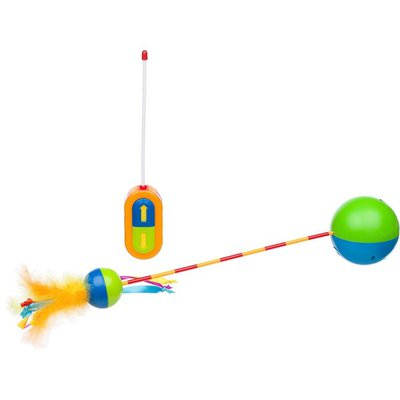 Petstages Run & Roll Remote Control Wand Cat Toy