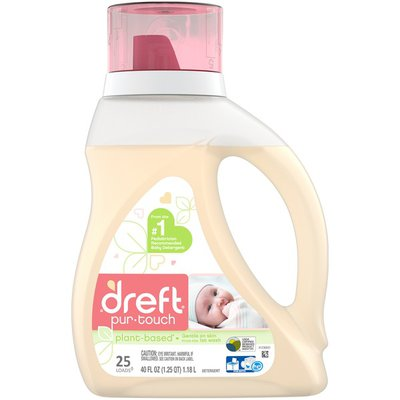 Dreft purtouch HE Liquid Baby Laundry Detergent, 40 fl oz (25 Loads)