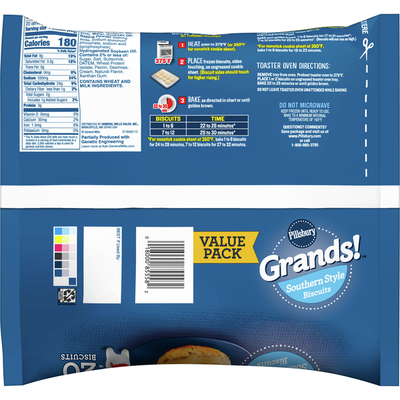 Pillsbury Grands!, Southern Style, Frozen Biscuits, 20 Count
