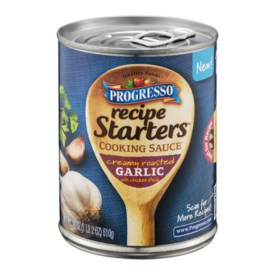 Progresso Recipe Starts Creamy Roasted Garlic Cooking Sauce