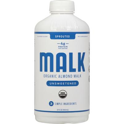 Malk Almond,  Organic, Unsweetened