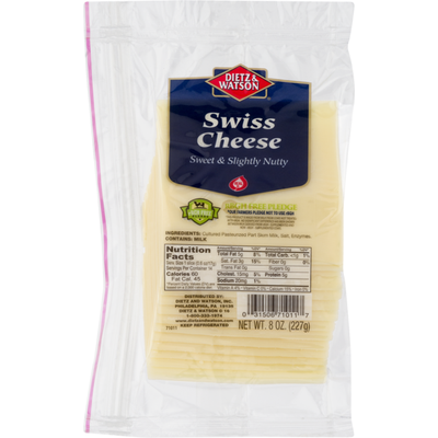Dietz & Watson Swiss Cheese, Pre-Sliced