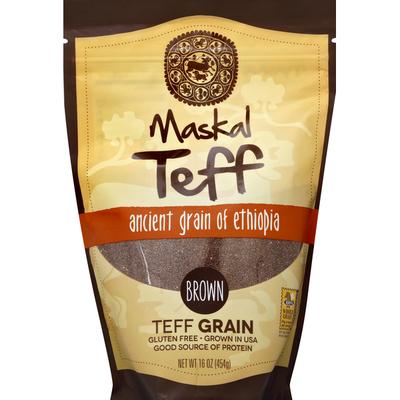 Maskal Teff Teff Grain, Ancient Grain of Ethiopia, Brown