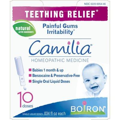 Boiron Camilia Teething Relief Homeopathic Medicine Single Liquid Doses - 10 CT