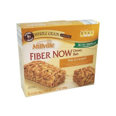 Millville Oats & Caramel Fiber Now Chewy Bars