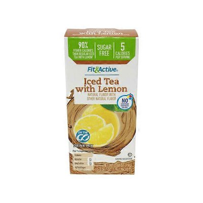 Fit & Active Single Serve Iced Tea w/lemon Drink Mix