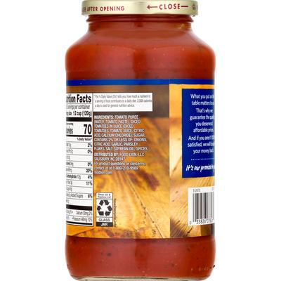Food Lion Pasta Sauce, Traditional