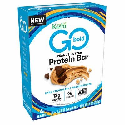 Kellogg's Kashi GO Protein Bars, Plant Based Vegan Protein, Gluten Free Snacks, Dark Chocolate Peanut Butter