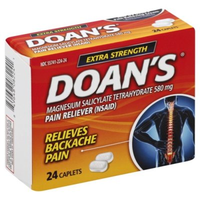 Doan's Pain Reliever, Extra Strength, 580 mg, Caplets