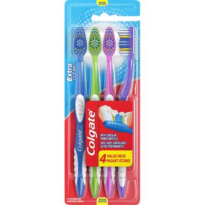 Colgate Toothbrushes, Medium, 4 Value Pack