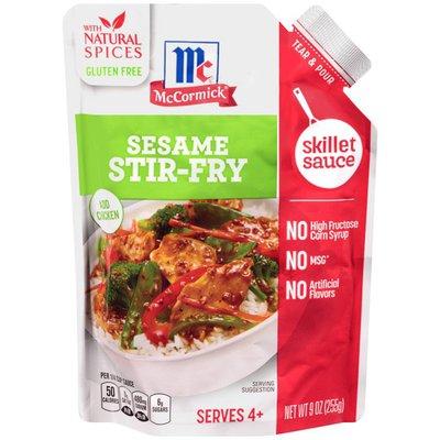 McCormick® Gluten Free Sesame Stir Fry Chicken Skillet Sauce
