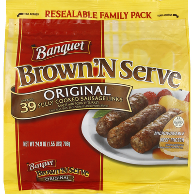 Banquet Sausage Links, Original, Family Pack