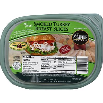 Empire Kosher Turkey Breast, Slices, Smoked