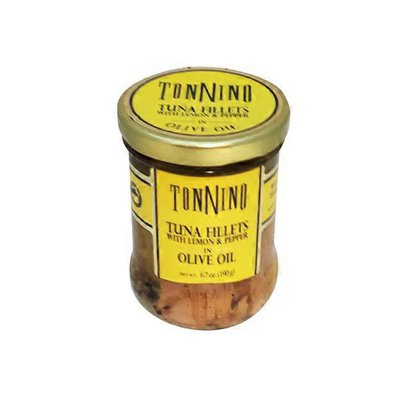 Tonnino Tuna Fillets With Lemon & Pepper In Olive Oil