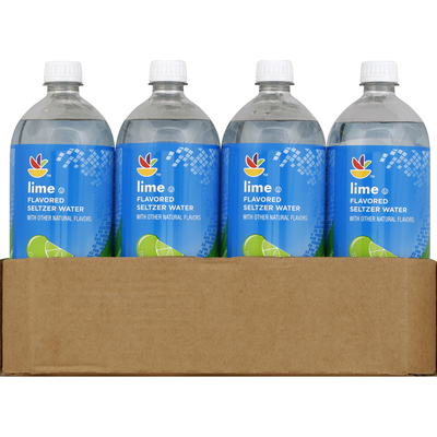 SB Seltzer Water, Lime Flavored