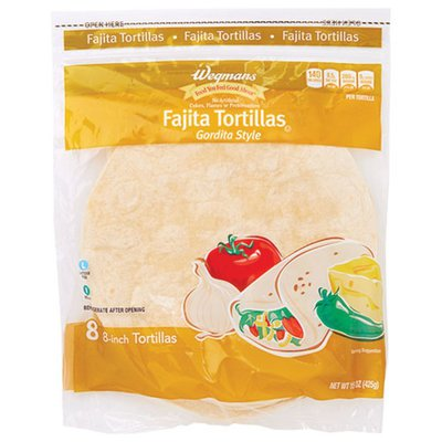 Wegmans Fajita Tortillas, Gordita Style