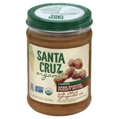 Santa Cruz Peanut Butter, Dark Roasted, Crunchy