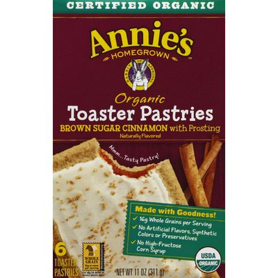 Annie's Toaster Pastries, Brown Sugar Cinnamon with Frosting