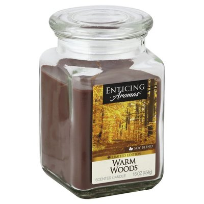 Enticing Aromas Candle, Scented, Warm Woods