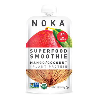 Noka Organic Superfood Fruit Smoothie Pouch, Mango Coconut