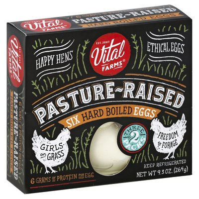 Vital Farms Eggs, Hard Boiled, Pasture-Raised