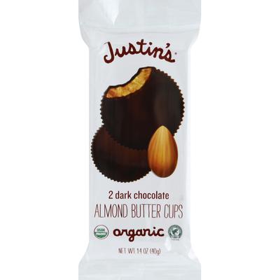 Justin's Almond Butter Cups, Organic, Dark Chocolate