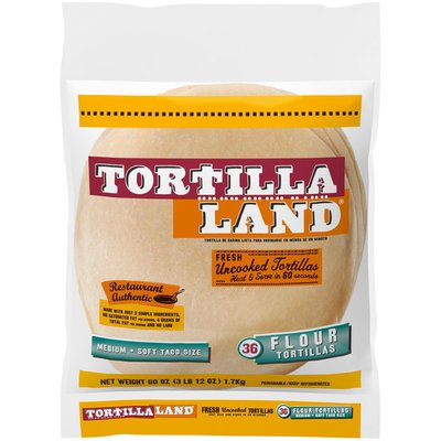 TortillaLand TortillaLand® Soft Flour Tortillas, Medium, 36 Count