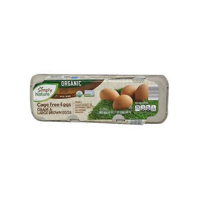 Simply Nature Organic Grade A Cage Free Large Brown Eggs