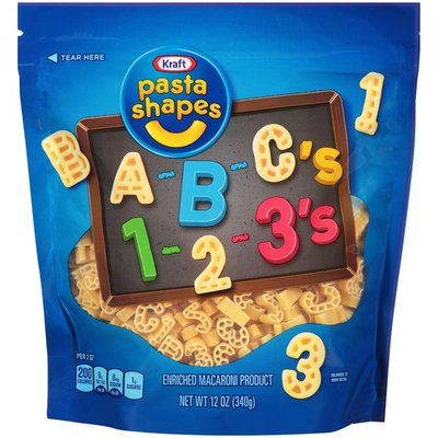 Kraft A-B-C's 1-2-3's Pasta Shapes