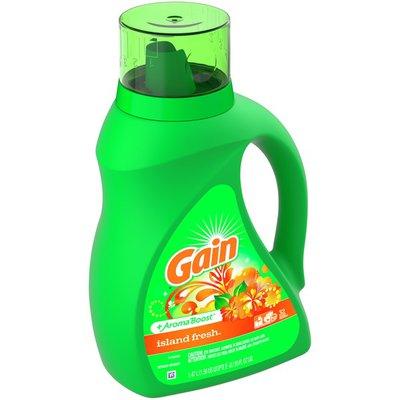Gain Aroma Boost Liquid Laundry Detergent, Island Fresh Scent