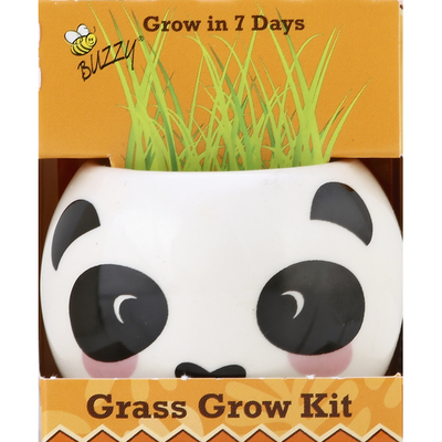 Buzzy Grass Grow Kit, The Jungle Animal, Panda