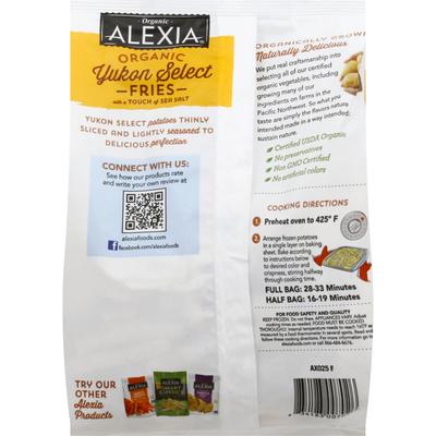 Alexia Fries, Organic, Yukon Select