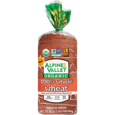 Alpine Valley Organic 100% Whole Wheat Bread