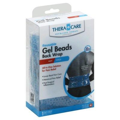 Thera Care Back Wrap, Gel Beads, Reusable