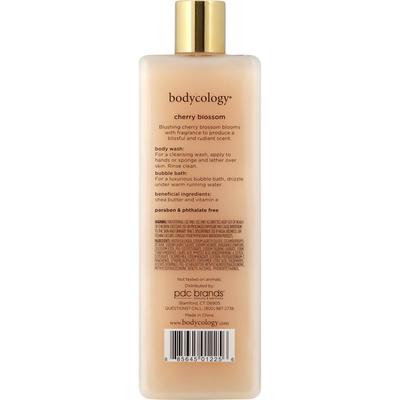 Bodycology Body Wash & Bubble Bath, Cherry Blossom, 2 in 1