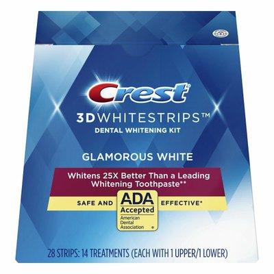 Crest 3Dwhitestrips Glamorous White At-Home Teeth Whitening Kit