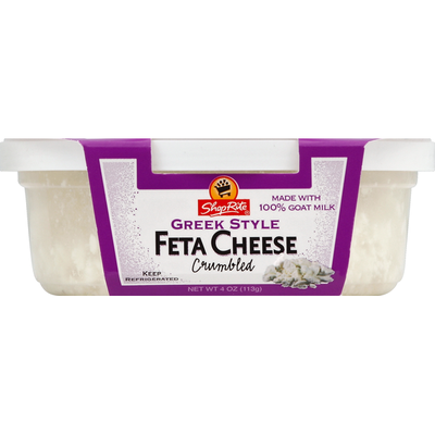 ShopRite Cheese, Crumbled, Greek Style, Feta