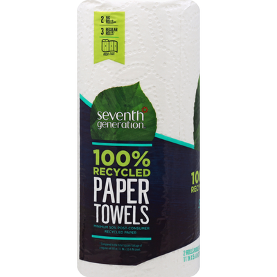 Seventh Generation Paper Towels, Big Rolls, Right-Size, 2-Ply