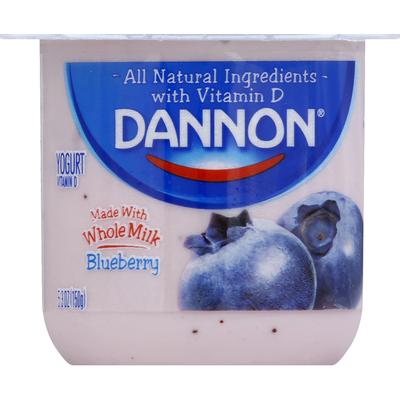 Dannon Whole Milk Non-GMO Project Verified Blueberry Yogurt