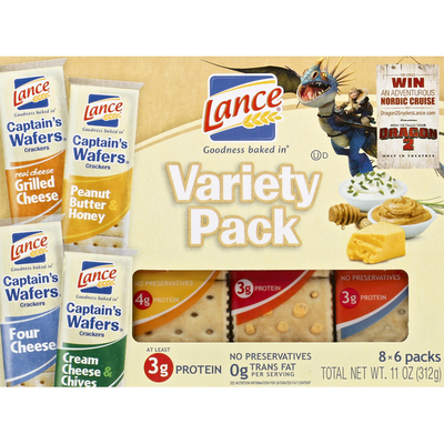 Lance Crackers, Captain's Wafers, Variety Pack
