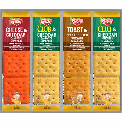 Kellogg's Keebler Sandwich Crackers, Single Serve Snack Crackers, Office and Kids Snacks, Variety Pack