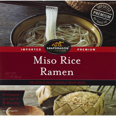 Snapdragon Rice Ramen, Miso