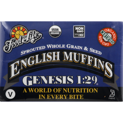 Food for Life English Muffins, Whole Grain & Seed, Sprouted