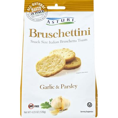 Asturi Bruschettini, Garlic & Parsley