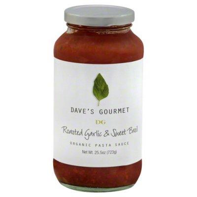 Dave's Gourmet Organic Pasta Sauce Roasted Garlic & Sweet Basil
