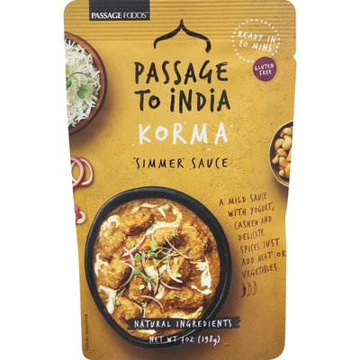 Passage To India Simmer Sauce, Korma